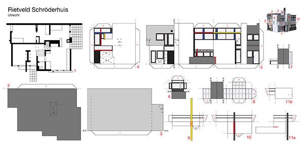 berlinerluft postkarte rietveld schroederhaus. Black Bedroom Furniture Sets. Home Design Ideas